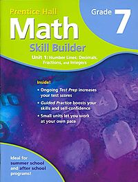 Prentice Hall Math Skill Builder Unit 1 Number Lines
