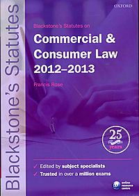 Blackstone's Statutes on Commercial & Consumer Law 2012-2013