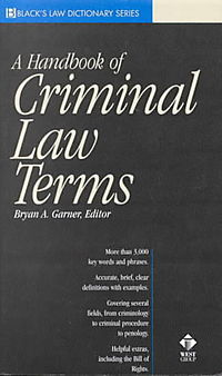 A Handbook of Criminal Law Terms