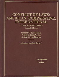 Cases and Materials on Conflict of Laws