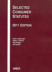 Selected Consumer Statutes, 2011