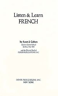 Listen and Learn French Manual