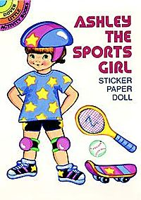 Ashley the Sports Girl Sticker Paper Doll