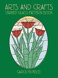 Arts and Crafts Stained Glass Pattern Book