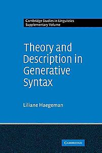Theory and Description in Generative Syntax