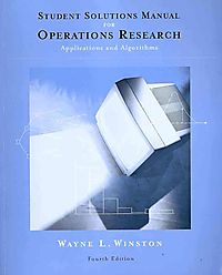 Student Solutions Manual Operations Research: Applications and Algorithms