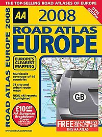 Aa 2008 Road Atlas Europe