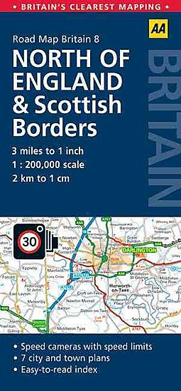 aa road map britain north england scottish borders