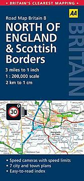 Aa Road Map Britain: North England & Scottish Borders