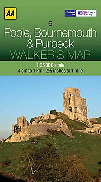 Aa Poole, Bournemouth & Purbeck Walker's Map