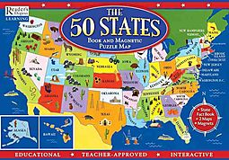 The Fifty States Map.The 50 States Book And Magnetic Puzzle Map Creative Media