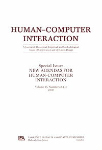 New Agendas for Human-Computer Interaction