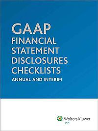 GAAP Financial Statement Disclosures Checklists