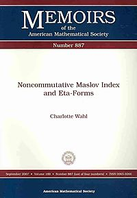 Noncommutative Maslov Index and Eta-Forms