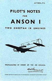 Pilot's Notes for Anson I
