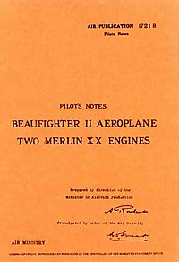 Bristol Beaufighter II -pilot's Notes