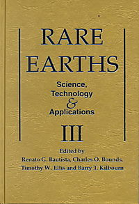 Rare Earths-Science Technology and Applications III