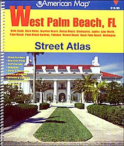 American Map West Palm Beach Fl Street Atlas Not Available NA