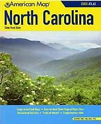 American Map North Carolina State Road Atlas