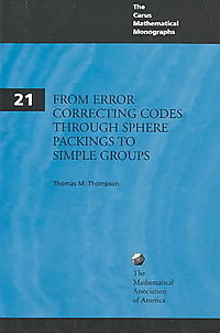 From Error-Correcting Codes Through Sphere Packings to Simple Groups