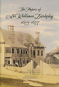 The Papers Of Sir William Berkeley 1605-1677