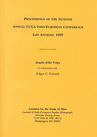 Proceedings of the 7th UCLA Indo-European Conference, Los Angeles, 1995
