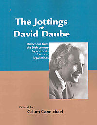The Jottings of David Daube