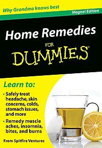 Home Remedies for Dummies Refrigerator Magnet Books
