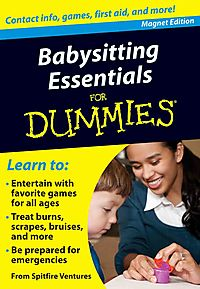 Babysitting Essentials for Dummies Refrigerator Magnet Book