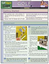 Golfdigest Golf for Women Laminated Reference Guide