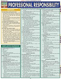 Professional Responsibility Laminated Reference Guide