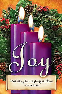Advent Sunday 3 Purple Bulletin 2013, Regular Size Package of 50