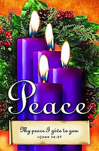 Advent Sunday 4 Purple Bulletin 2013, Regular Size Package of 50
