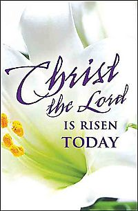 Chris the Lord is Risen Today Easter Lilies Bulletin 2015, Regular