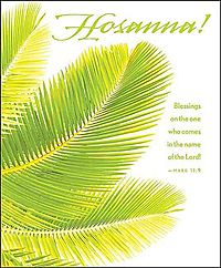 Hosanna Palm Sunday Bulletin 2015, Large, Package of 50