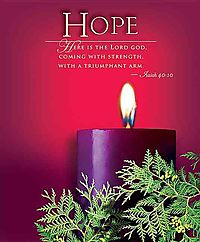 Advent Sunday 1 Hope Bulletin 2014, Large, Package of 50