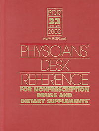 Physician's Desk Reference 2002 for Nonprescription Drugs and Dietary Supplements