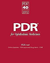 PDR for Ophthalmic Medicines 2012
