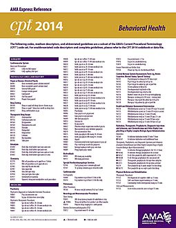 CPT 2014 AMA Express Reference Coding Card General Surgery