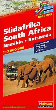 Hallwag Sudafrika South Africa Road Map/ Afrique de Sud Audafrica