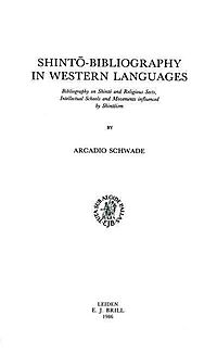 Shinto-Bibliography in Western Languages