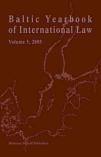 Baltic Yearbook of International Law, 2005